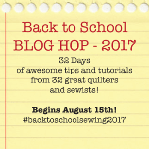 Sewing Basics Back to School Blog Hop
