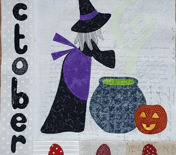 Sandra Healy Designs Calendar Quilt October block