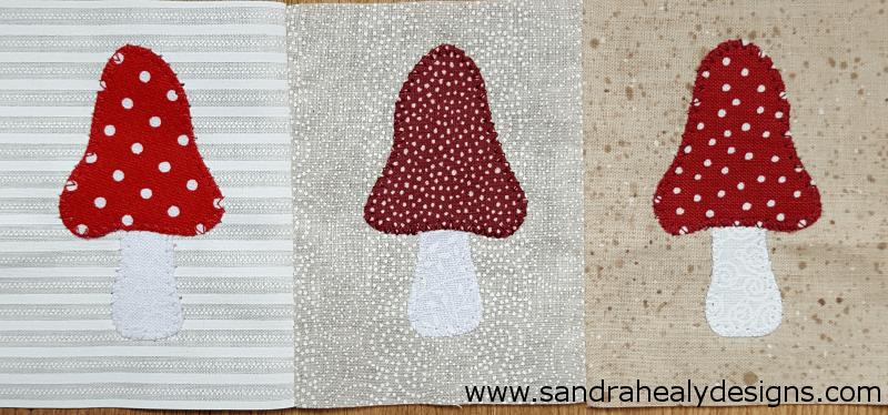 Sandra Healy Designs Calendar Quilt Toadstools