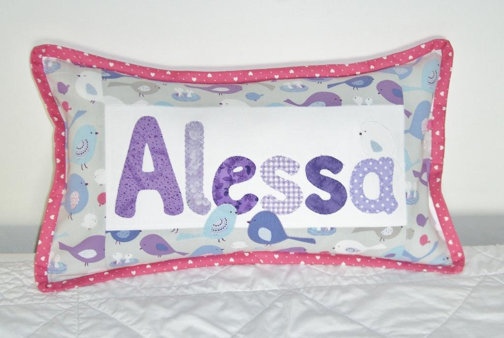 Sandra Healy Designs personalised name pillow pattern