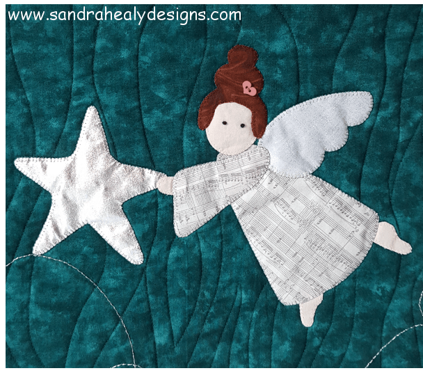 Sandra Healy Designs Christmas angel wall hanging Second Angel Close-up