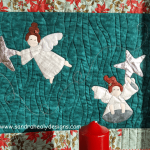Sandra Healy Designs Christmas Angel Quilt