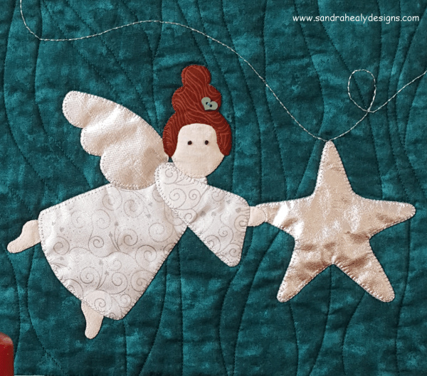 Sandra Healy Designs Christmas angel wall hanging Angel Close-up