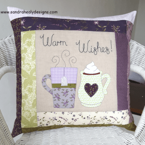 Sandra Healy Designs Warm Wishes Pillow digital pattern