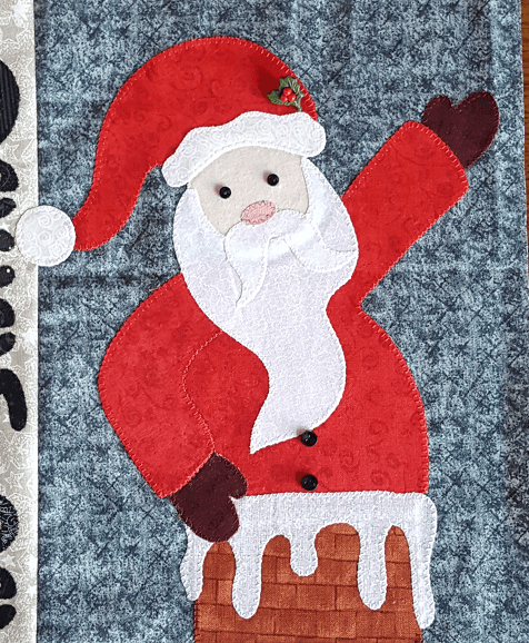 Sandra Healy Designs Applique pressing sheet Santa figure