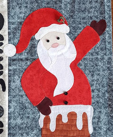Sandra Healy Designs Applique pressing sheet Santa figure