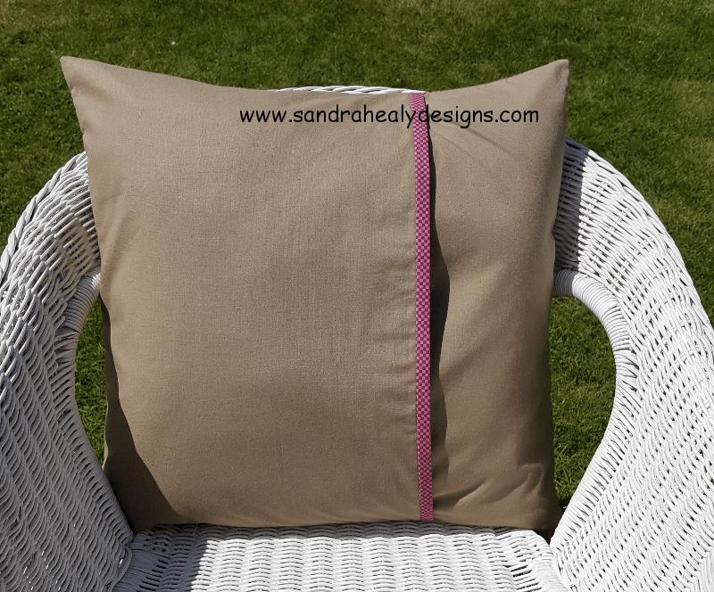Sandra Healy Designs fluttering hearts pillow back