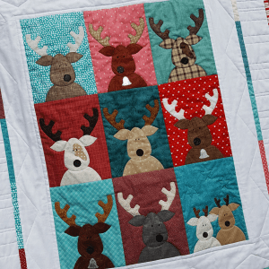 Sandra Healy Designs The Reindeer Crew panel