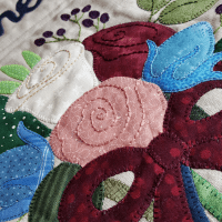 Sandra Healy Designs wedding quilt roses