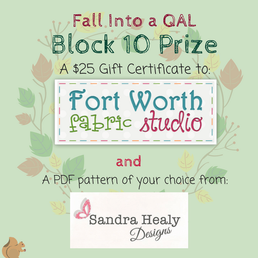Fall Into a Quiltalong Block 10 Prizes