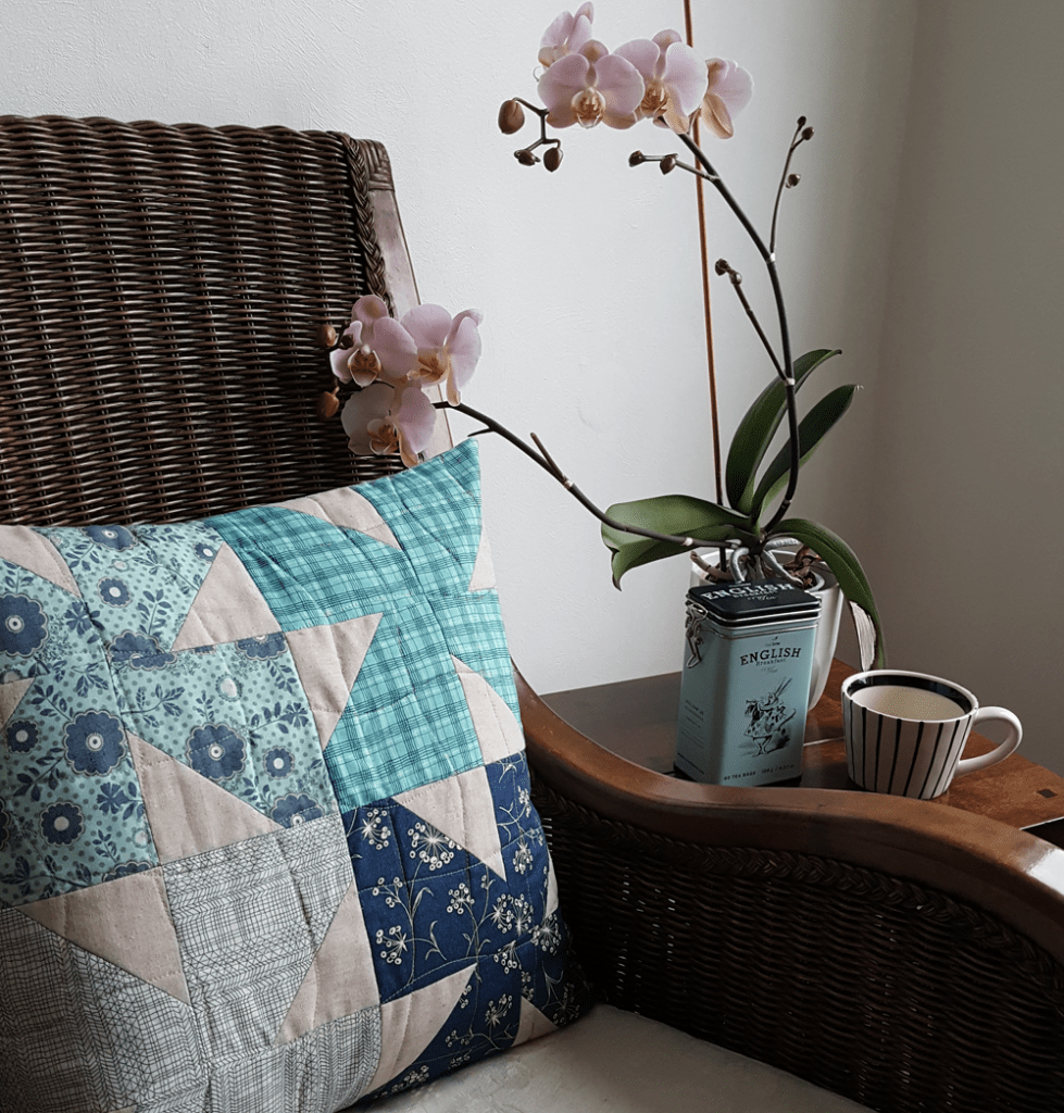 Sandra Healy Designs Sweet Bows Cushion from Turnabout Patchwork