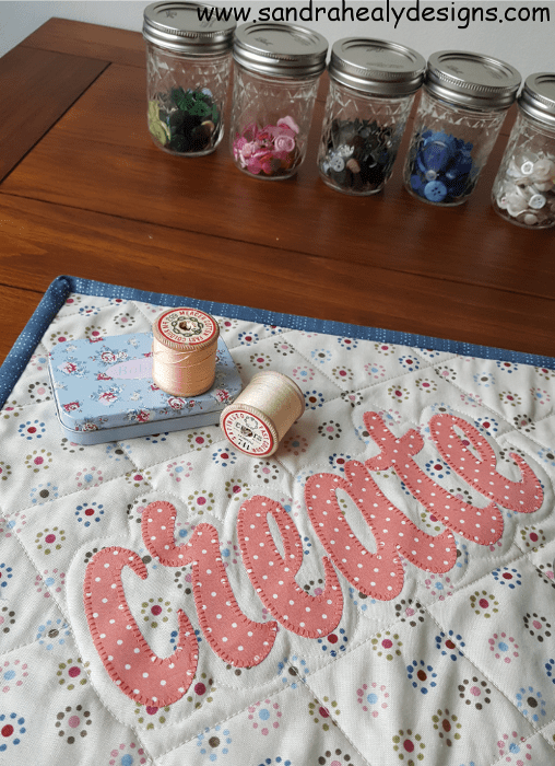 Sandra Healy Designs Text It! sewing mat close-up