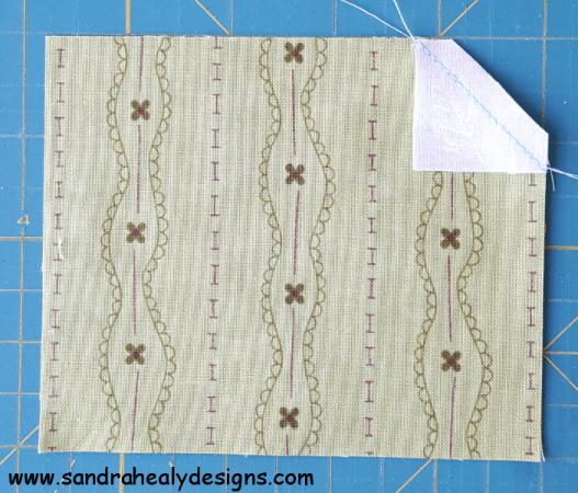 Sandra Healy Designs, Sew Let's QAL, Sewing Machine, Cut and Flip Corners, Step 4