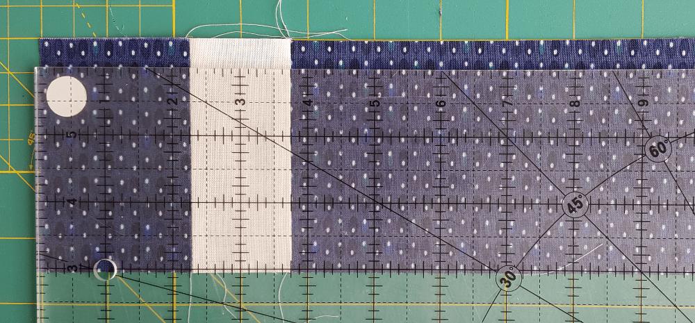 Sandra Healy Designs, Sew Let's QAL, block 3, measuring grid unit