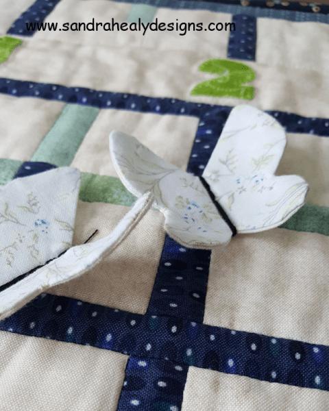 Sandra Healy Designs, Sew Let's quilt along, project ideas, butterflies close up