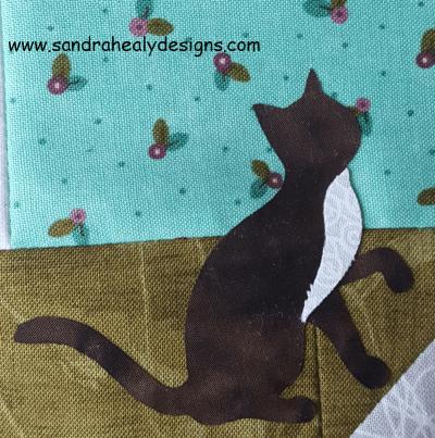 Sandra Healy Designs, Sew Let's QAL, Block 5, cat