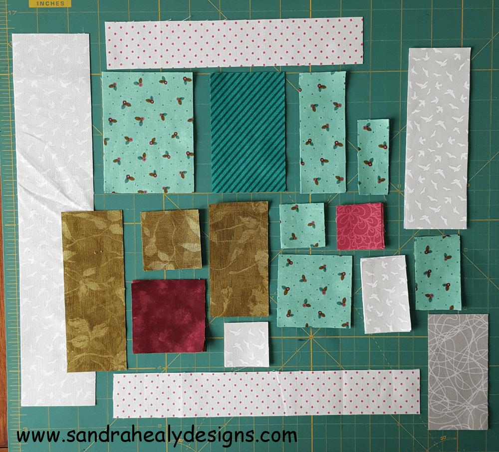 Sandra Healy Designs, Sew Let's QAL, Block 5, Quilt Shop pieces