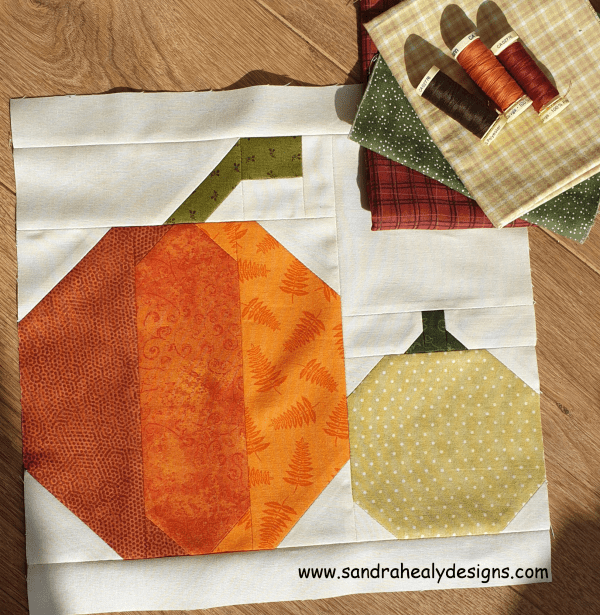 Sandra Healy Designs Harvest Pumpkins Quilt Block Pattern