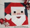 Sandra Healy Designs, Santa quilt block, Santa with Berries