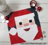 Sandra Healy Designs, Santa quilt block, Santa with Candle