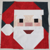 Sandra Healy Designs, Santa quilt block, close-up