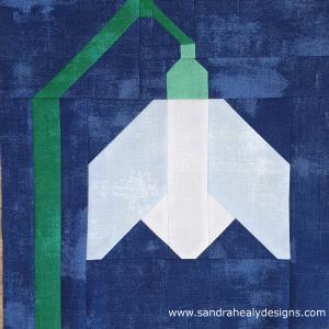 Sandra Healy Designs snowdrop quilt block