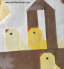 Sandra Healy Designs easter chick quilt basket close up