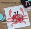 Sandra Healy Designs patterned crab quilt block