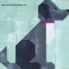 Sandra Healy Designs dog quilt block close up