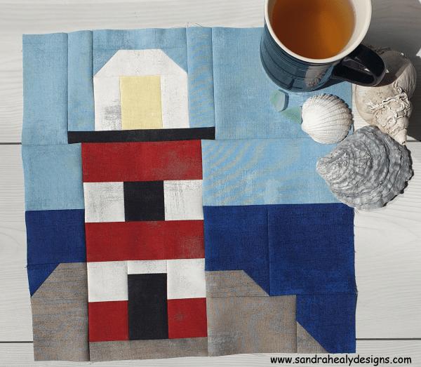 Sandra Healy Designs lighthouse quilt block