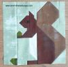 Sandra Healy Designs squirrel quilt block