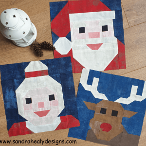 Sandra Healy Designs Christmas character pattern bundle