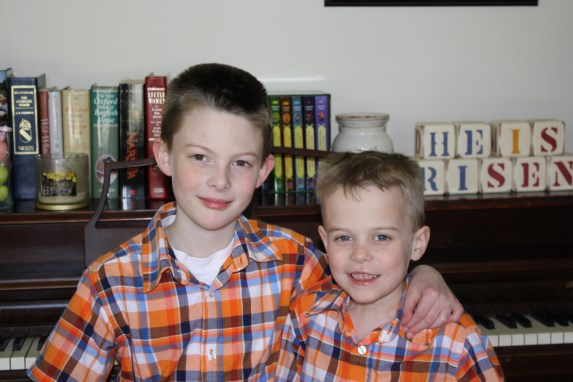 boys on Easter