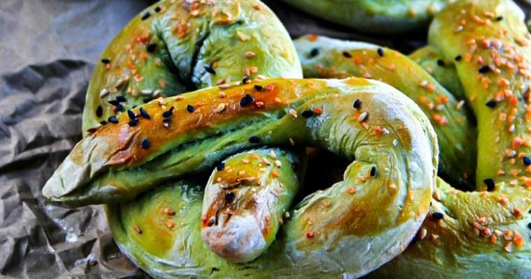 Green Tea (Matcha) Soft Pretzels