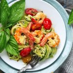 Zoodles with Shrimps & Tomatoes