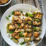 Teriyaki Chicken and Pepper Skewers