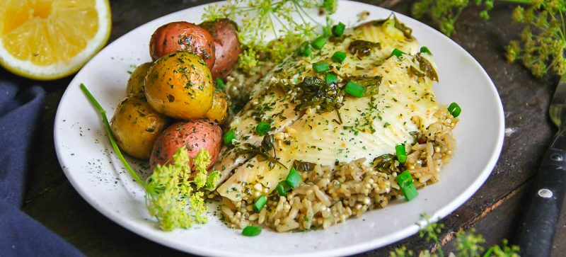 Parsley and Lemon Baked Fish Fillets