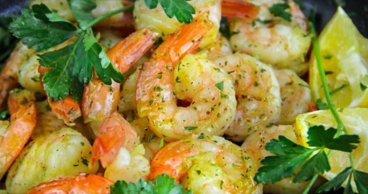 Lemon, Garlic, Butter, Shrimp Recipe