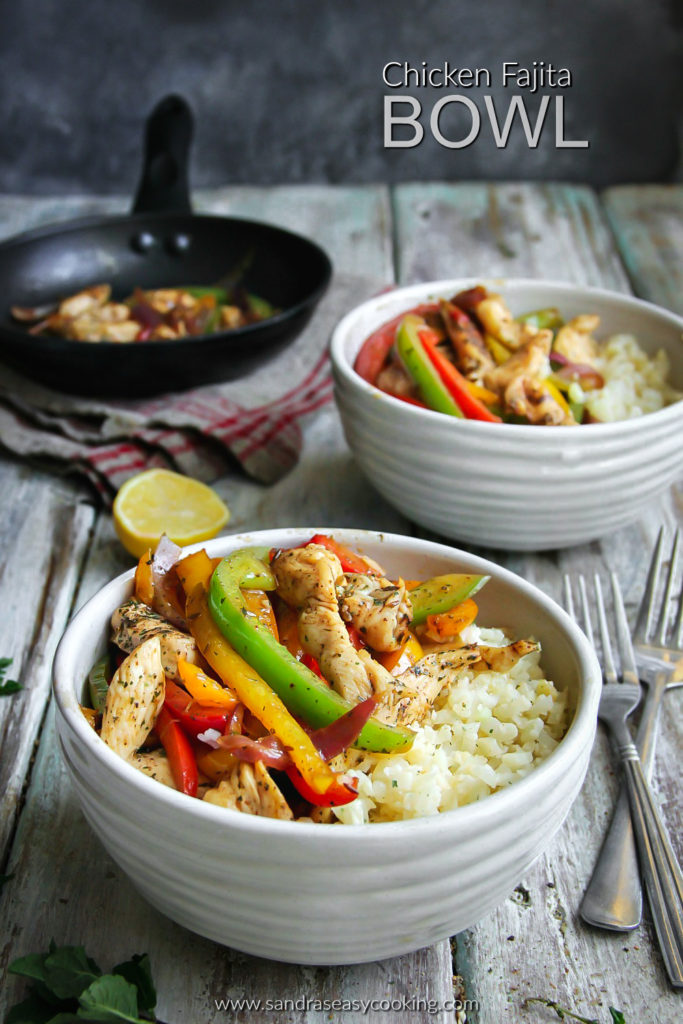 Fajita Bowls With Cauliflower Rice