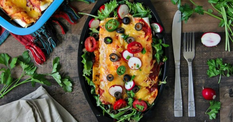 Chicken Enchiladas with Tillamook Cheese