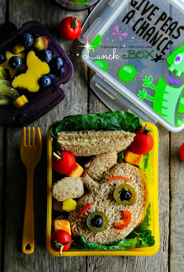 Chicken Salad Sandwiches Lunch Box