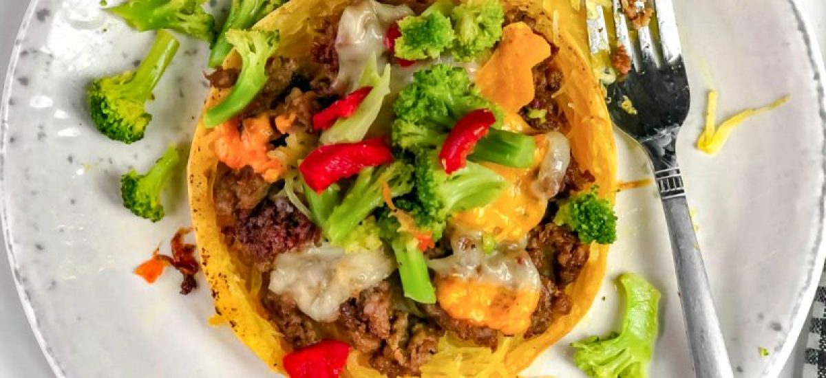 Ground Beef Stuffed Spaghetti Squash – Low Carb