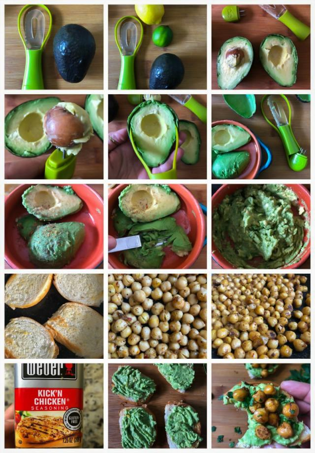 Avocado Toast with Spicy Chickpeas