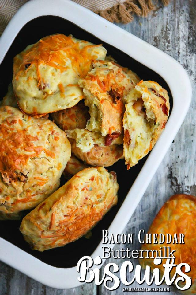 Bacon Cheddar Buttermilk Biscuits Recipe