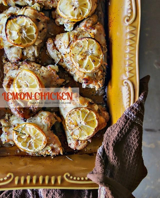 Baked Lemon Chicken Thighs