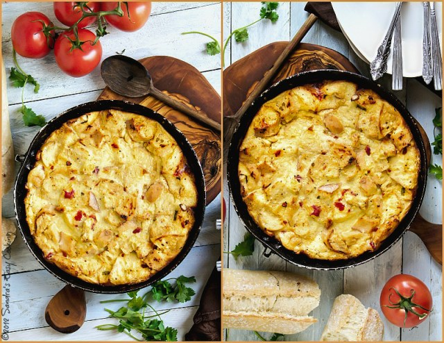 Savory Chicken and Sun-Dried Tomatoes Clafoutis