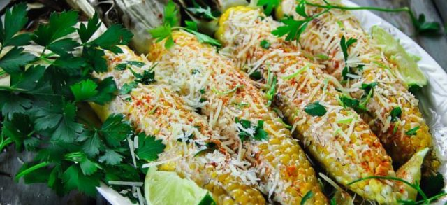 Grilled Corn on the Cob with Husks and Mayo-Sriracha Sauce