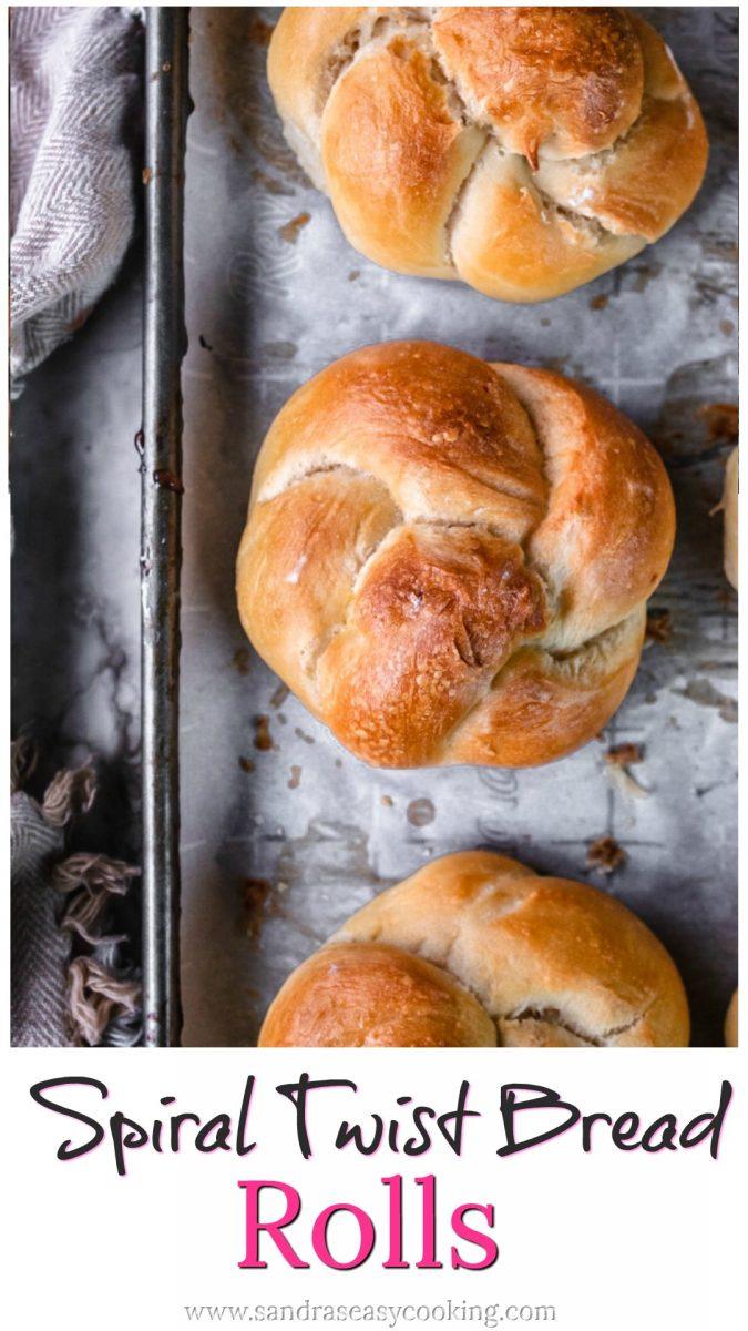 Spiral Twist Bread Rolls Recipe
