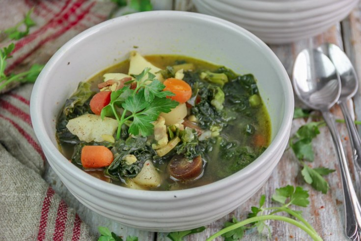 Bacon and Kale Soup