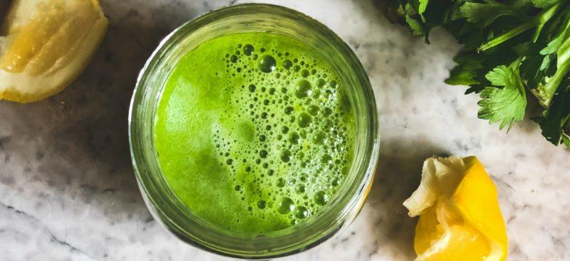Celery, Ginger and Lemon Juice—Magical Elixir